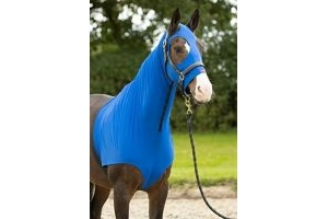 LeMieux Lycra Hood - Benetton Blue, X-Small