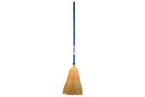 Faulks Large Coloured Handle Corn Broom: Blue