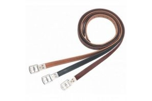 Bates Stirrup Leathers Black 63 inch/160cm