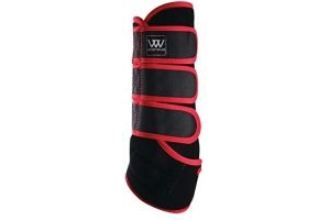 Woof Wear Dressage Wrap Black/Royal Red Large