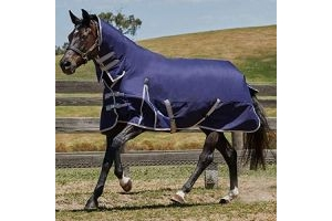 Weatherbeeta Comfitec Heavy Essential Combo Neck Turnout Rug (5 ft 9) (Navy/Silver/Red)