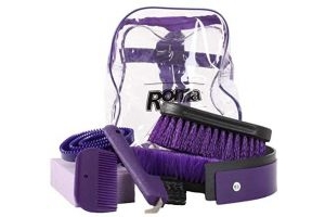 Roma Backpack Grooming Kit 7 Piece Purple