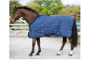 Horseware Rhino Original 200g Medium Weight Standard Neck Stable Rug Navy/Cream