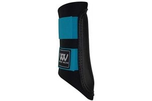 Woof Wear Club Brushing Boots Black/Turquoise X Small