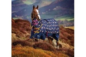 Shires Highlander Original 200G Horse Turnout Rug Combo in STAG PRINT 6'3
