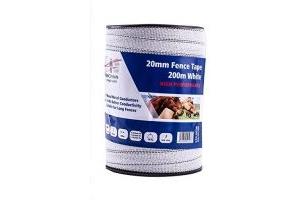 Fenceman High Performance White Tape 20mm x 200m