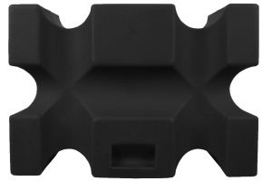 Classic Showjumps Single Parallel Jump Block Black