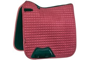 LeMieux Suede Dressage Square Saddle Pad French Rose