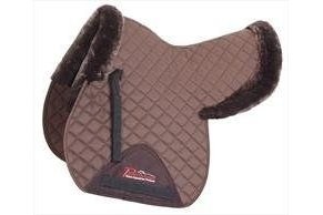 Shires Performance Half Lined SupaFleece Numnah-Brown Cob