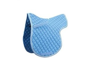 Roma Grand Prix High Wither All Purpose Numnah (Light Blue/White, Warmblood)