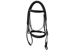 Kincade Leather Raised Cavesson Bridle II (Shetland) (Black)