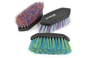 Shires Large Ezi Groom Dandy Brush One Size Purple Green
