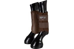 LeMieux Unisex's ProSport Grafter Brushing Boots Pair, Brown, Large
