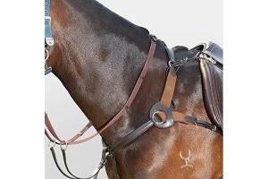 Kincade Leather 5-Point Breastplate Black Warmblood
