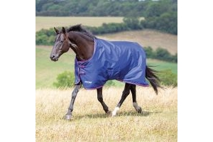 Shires Tempest Original 100 Light Weight Standard Neck Turnout Rug Navy/Pink