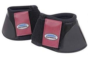 Weatherbeeta Impact Bell Boots Black/Maroon Full