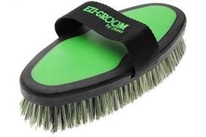 Shires Ezi-Groom Body Brush (Large)-Lime Green One Size