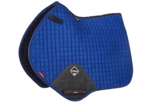 LeMieux ProSport Suede Close Contact Square Saddle Pad Benetton Blue