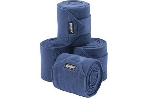 Roma Thick Polo Bandages 4 Pack Navy Blue One Size