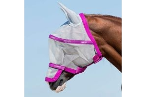 Horseware Rambo Fly Mask Plus Vamoose Cob Silver/Purple