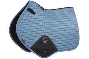 LeMieux ProSport Suede Close Contact Square Saddle Pad Ice Blue