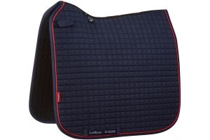 LeMieux ProSport Classic Dressage Square Saddle Pad Navy/Red