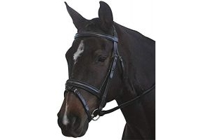 Kincade Leather Padded Headpiece Flash Bridle (Full) (Brown)