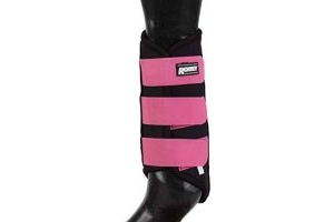 Roma Neoprene Brushing Boots Black/Fuchsia Full