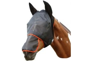 Equilibrium Field Relief Fly Mask Max Black/Orange