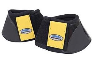 Weatherbeeta Impact Over Reach Boots Warmblood Black Mustard Yellow