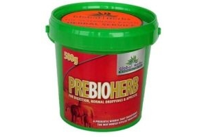 Global Herbs Prebioherb 500g Tub - For digestion, normal droppings & appetite