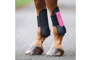 Shires ARMA Tendon Boot Pony Black/Pink