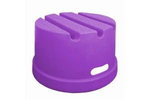 Classic Showjumps Standard 1 Step Mounting Block Purple