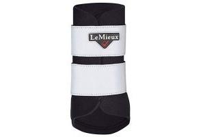 LeMieux Unisex's ProSport Hi-Vis Grafter Brushing Boots Pair, Black, Large