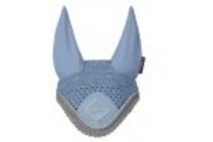 LeMieux Classic Lycra Fly Hood Veil Ears - Colour Ice Blue Size Large