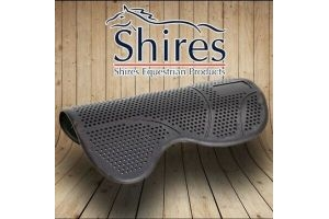 Shires Non Slip Gel Saddle Pad | Perforated for Max Airflow | Shock Absorbing