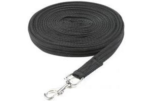 Shires Cushion Web Lunge Line Black