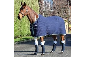 Shires Tempest Original Tech Cooler Rug - Navy/Green/Grey: 5ft3