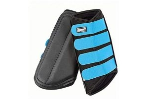Roma Neoprene Brushing Boots (Pony) (Black/Blue)