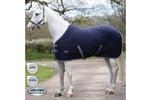 Weatherbeeta Thermic Quilt Cooler Std Neck Rug - Navy/Grey/White: 5ft6
