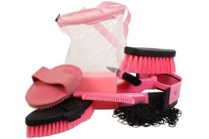 Roma Cylinder Grooming Kit 9 Piece Pink