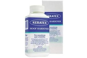 Keratex Hoof Hardener Strengthens Equine Hooves - Transparent, 250ml