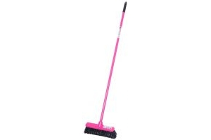 Red Gorilla Short Handled 30cm Broom: Pink