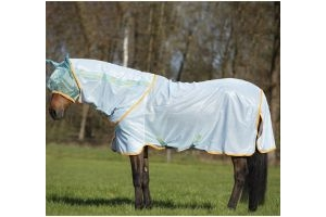 Horseware Amigo Bug Rug Azure Blue/Aqua/Orange