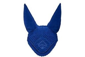 LeMieux Duke and Co Signature Fly Hoods, Medium, Benetton Blue/Blue Braid