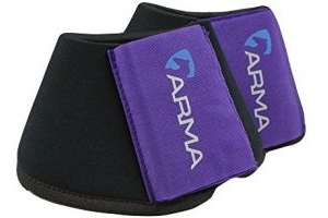 Shires ARMA Neoprene Over Reach Boots-Purple Pony