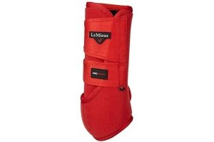 LeMieux ProSport Support Boots - Coral Red (Pair): Medium