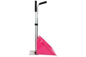 Shires Manure Scoop Tall Handle Pink
