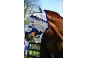 Rambo Horseware Ireland Fly Mask Plus Vamoose-Cob Silver/Purple & Mint