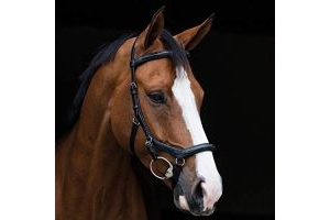 Horseware Ireland Rambo Micklem Deluxe Competition Bridle English Leather [Black] [Standard Horse] SBAB6F
